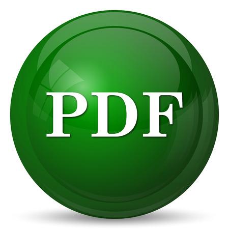 bibliography: PDF icon. Internet button on white background.