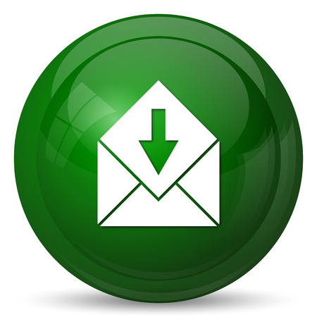net bar: Receive e-mail icon. Internet button on white background.