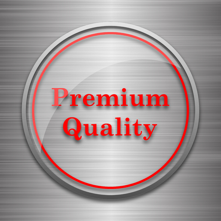 first rate: Premium quality icon. Internet button on metallic background.