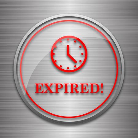 metallic: Expired icon. Internet button on metallic background.