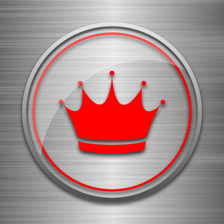 metallic: Crown icon. Internet button on metallic background.