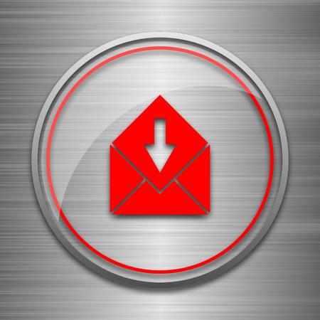 net bar: Receive e-mail icon. Internet button on metallic background.