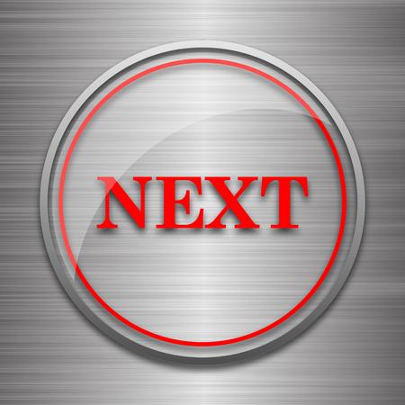 metallic: Next icon. Internet button on metallic background.