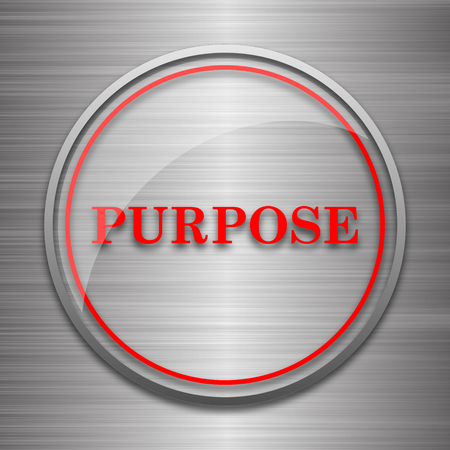 purpose: Purpose icon. Internet button on metallic background.
