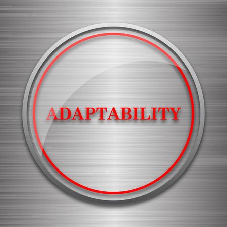 adapting: Adaptability icon. Internet button on metallic background. Stock Photo