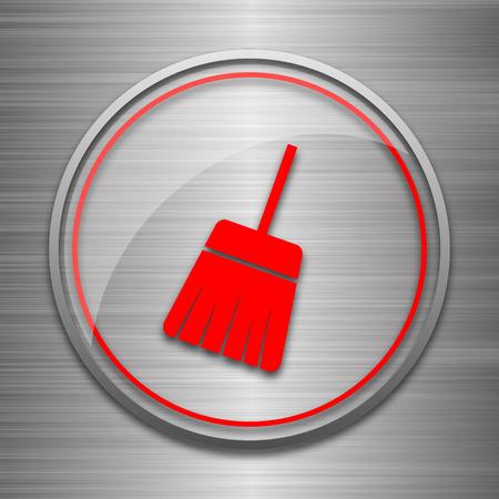 sweep: Sweep icon. Internet button on metallic background.