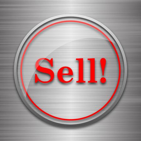 to sell: Sell icon. Internet button on metallic background. Stock Photo