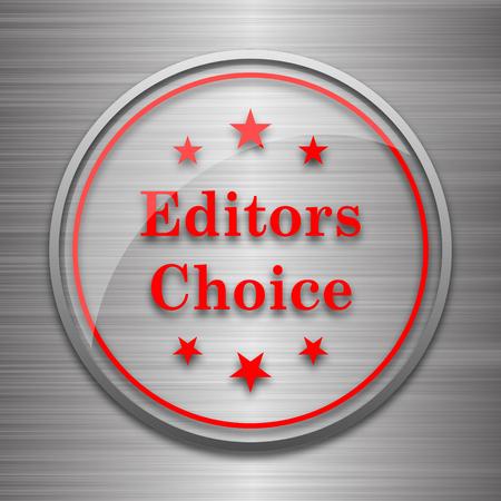 editors: Editors choice icon. Internet button on metallic background. Stock Photo