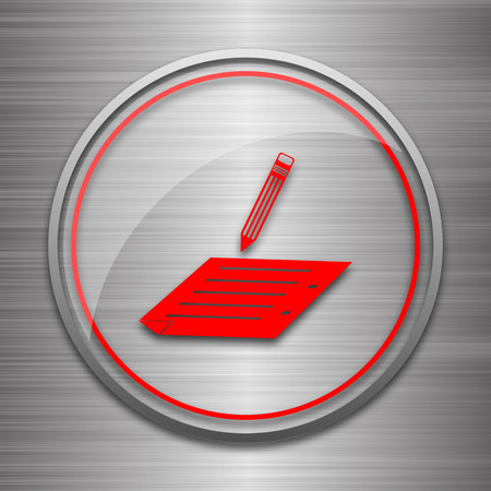 subscribing: Subscribe icon. Internet button on metallic background. Stock Photo