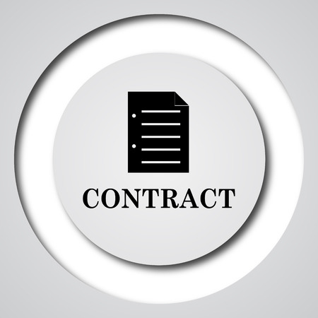 companions: Contract icon. Internet button on white background.