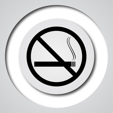 background information: No smoking icon. Internet button on white background.