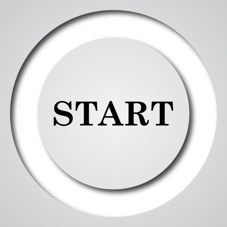proceed: Start icon. Internet button on white background.