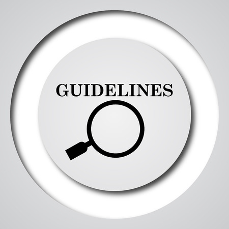 specification: Guidelines icon. Internet button on white background.