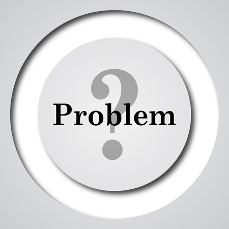 solved: Problem icon. Internet button on white background.