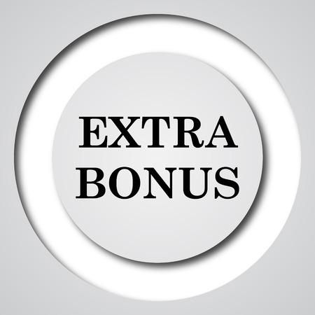 extra: Extra bonus icon. Internet button on white background.