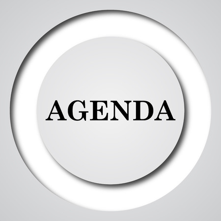 schedule reports: Agenda icon. Internet button on white background.