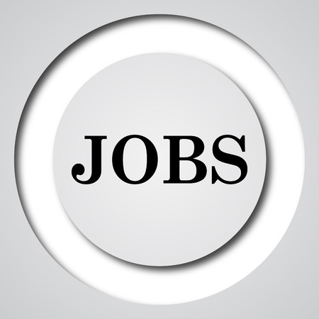 searching: Jobs icon. Internet button on white background.