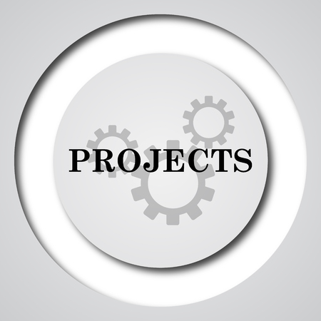 project: Projects icon. Internet button on white background. Stock Photo