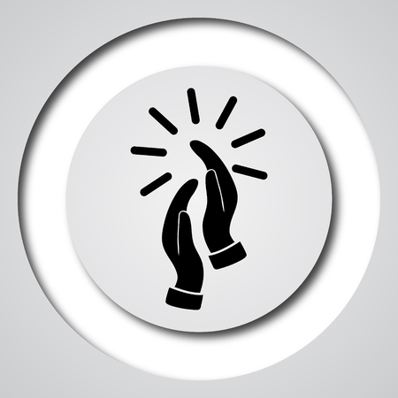 applaud: Applause icon. Internet button on white background.