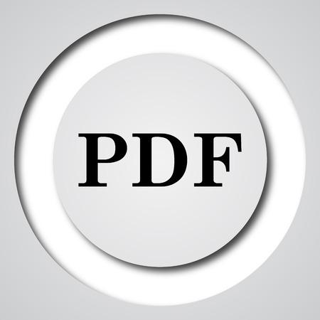 pdf: PDF icon. Internet button on white background.