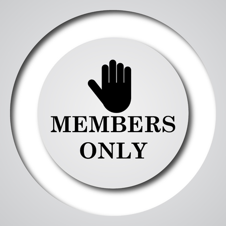 permission: Members only icon. Internet button on white background.