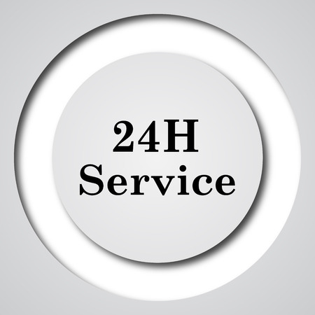 aftersale: 24H Service icon. Internet button on white background.