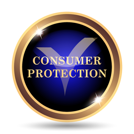golden rule: Consumer protection icon. Internet button on white background.