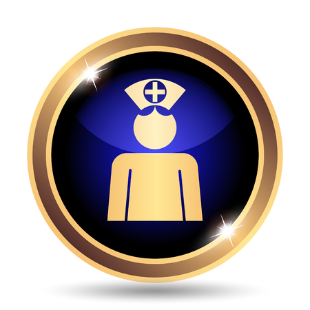nursing uniforms: Nurse icon. Internet button on white background.