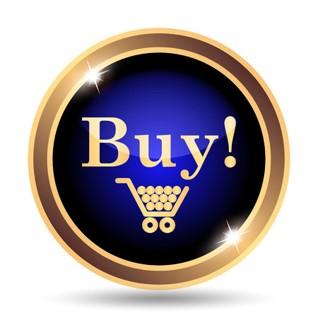 buy button: Buy icon. Internet button on white background.