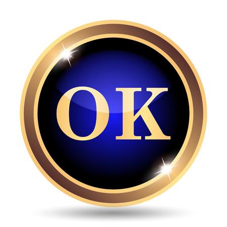 ok icon: OK icon. Internet button on white background.