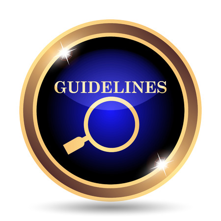 guideline: Guidelines icon. Internet button on white background.