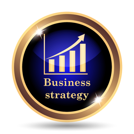 internet background: Business strategy icon. Internet button on white background.