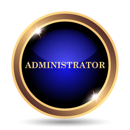 Administrator icon. Internet button on white background. Banco de Imagens - 50939659