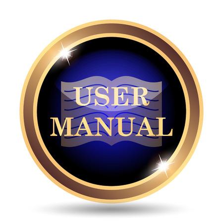 handbooks: User manual icon. Internet button on white background.