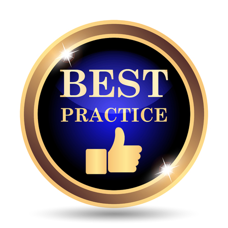 Best practice icon. Internet button on white background. Stock Photo