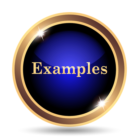 Examples icon. Internet button on white background.