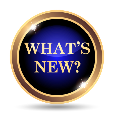 quest: Whats new icon. Internet button on white background. Stock Photo