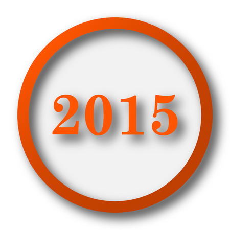 beginnings: Year 2015 icon. Internet button on white background.