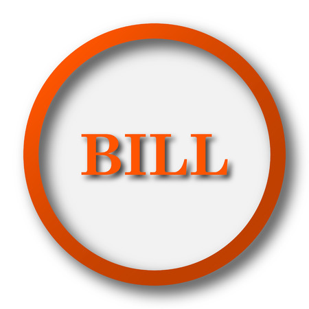 payable: Bill icon. Internet button on white background.
