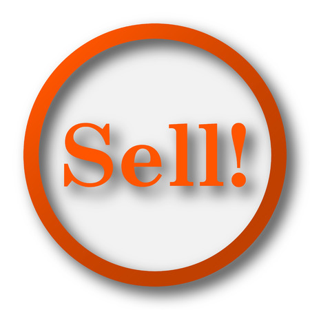 to sell: Sell icon. Internet button on white background.