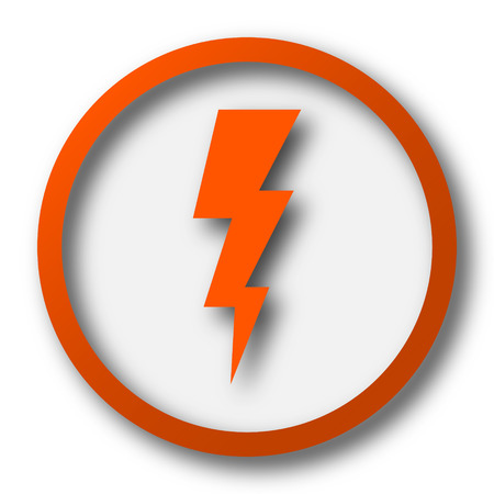 bolt: Lightning icon. Internet button on white background.