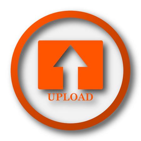 buy icon: Upload icon. Internet button on white background. Stock Photo
