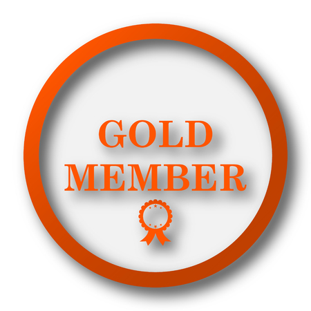 premium member: Gold member icon. Internet button on white background.