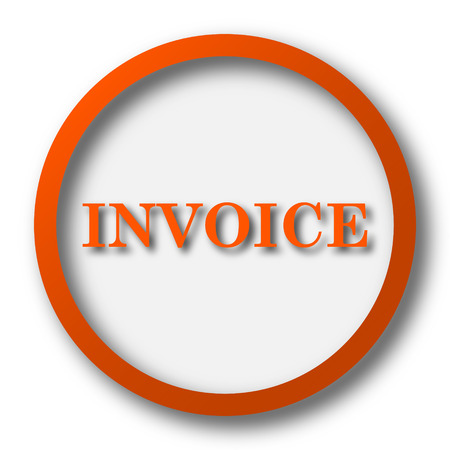 accounts payable: Invoice icon. Internet button on white background.