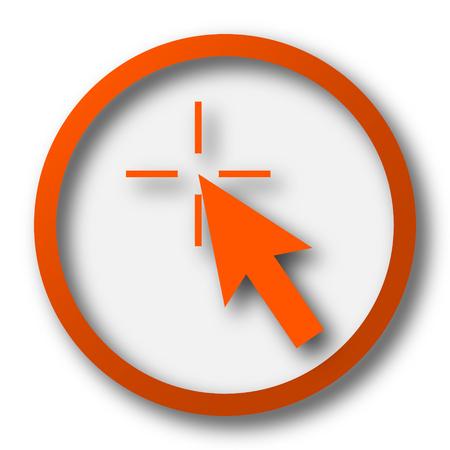 cursor: Click here icon. Internet button on white background.