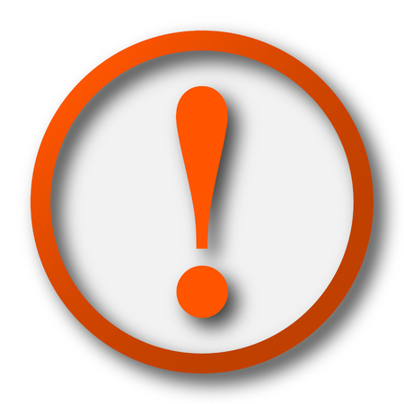 attention: Attention icon. Internet button on white background.