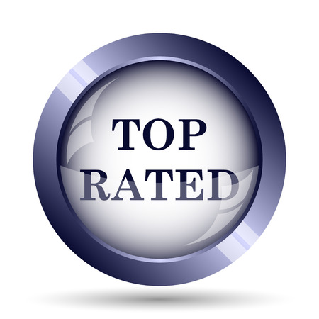 rated: Top rated  icon. Internet button on white background.