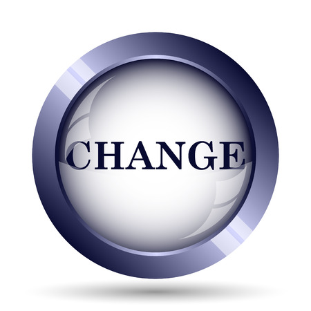 progression: Change icon. Internet button on white background.