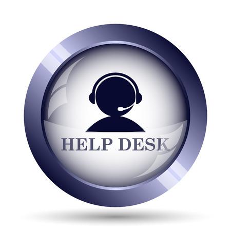 helpdesk: Helpdesk icon. Internet button on white background. Stock Photo