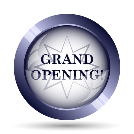 grand sale icon: Grand opening icon. Internet button on white background.
